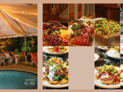 Over the top Food from Mosaic for Pam + Cal's Wedding